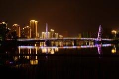 Changde Hunan China. Night scene in changde hunan Stock Photos