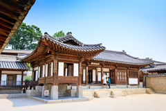 Changdeok Changdeokgung na Jun 17 lub pałac, 2017 w lat morzach obraz royalty free