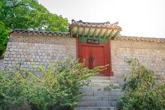 Changdeok Palast oder Changdeokgung am 17. Juni 2017 in den Sommermeeren Lizenzfreie Stockfotos