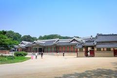 Changdeok Palast oder Changdeokgung am 17. Juni 2017 in den Sommermeeren Lizenzfreies Stockfoto
