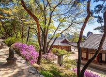 Changdeokgung, βασιλικό παλάτι στη Σεούλ, μυστικός κήπος στοκ φωτογραφία