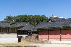 Changdeokgung Architecture. Colorful and traditional architecture of Changdeokgung palace in seoul, south korea Stock Image
