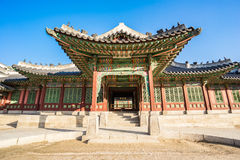 Changdeokgung Huwon i pałac punkt zwrotny Seul, Południowy Korea Zdjęcie Royalty Free