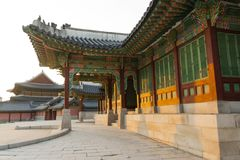 Changdeokgung palace. Palace building in Seoul, South Korea. An example of Korean architecture Stock Photo