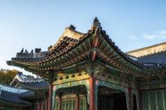 Changdeokgung palace details stock photo
