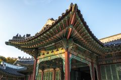Changdeokgung palace details royalty free stock images
