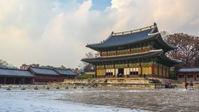 Changdeokgung Palace in Seoul city, South Korea Time Lapse