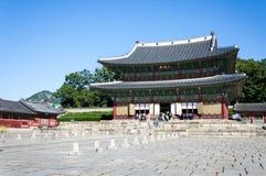 Changdeokgung slott Arkivfoto