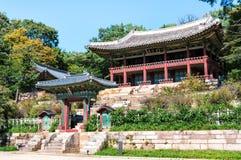 Changdeokgung slott Royaltyfria Foton