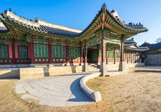 Changdeokgung slott i Seoul, Sydkorea Royaltyfri Fotografi