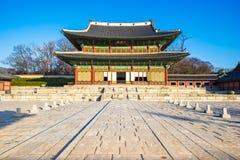 Changdeokgung slott i Seoul, Sydkorea Royaltyfria Foton