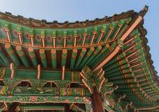 Changdeokgung slotttak Arkivfoton