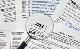 8822 change of address form Stock Image