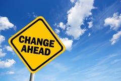 Change ahead stock illustration