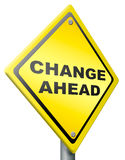 Change ahead change and improvement better Stock Photography
