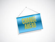 Change ahead hanging banner illustration Royalty Free Stock Photography