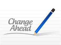 Change ahead message sign illustration Stock Images