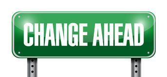 change ahead road sign illustration design Royalty Free Stock Images