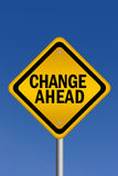 Change ahead sign Royalty Free Stock Photography