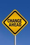 Change ahead sign vector illustration