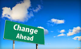 Change ahead sign Royalty Free Stock Photos