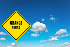 Change ahead Royalty Free Stock Photo