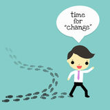 Change for the better. The businessman who choose the difference way that is change for the better Royalty Free Stock Image