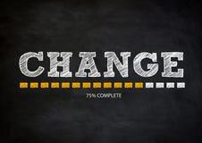 CHANGE. Blackboard with handwritten CHANGE slogan Stock Photos