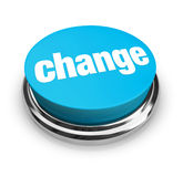 Change - Blue Button Royalty Free Stock Images