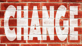 Change On A Brick Wall. Change Written On A Brick Wall royalty free stock photo