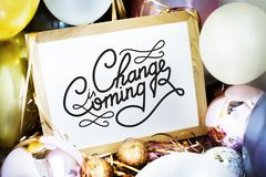 Change is coming new year resolution Stock Photography