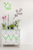Change commode into a flower stand Royalty Free Stock Photos
