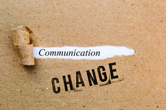 Change - Communication - successful strategies for change stock image