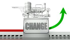 Change concept with graph Royalty Free Stock Image