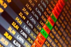 Échange courant de données financières Photographie stock libre de droits