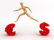 Change Currency (With clipping path). (computer generated image vector illustration
