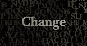 Change - 3D rendered metallic typeset headline illustration Royalty Free Stock Photo