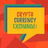 Change des textes d'écriture de Word crypto Le concept d'affaires pour l'exploitation des devises numériques autres éléments d'ac illustration libre de droits