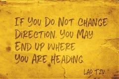 Change Direction Lao Tzu Royalty Free Stock Image