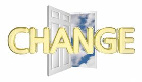 Change Door Opening Adapt Evolve Innovate Disrupt 3d Illustratio. N Royalty Free Stock Image