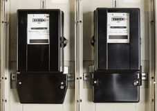 Change electricity meter Stock Image