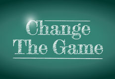 Change the game message Royalty Free Stock Images