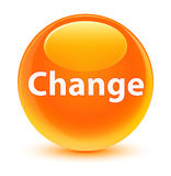 Change glassy orange round button Stock Image