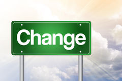 Change Green Road Sign Royalty Free Stock Photography