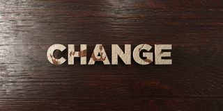 Change - grungy wooden headline on Maple  - 3D rendered royalty free stock image Stock Photography