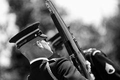 Change of the Guard in Arlington Cemetery Royalty Free Stock Photo