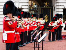 Change of guard at Buckingham Palace, London. Stock Images