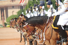 Change of Guard Ceremony - India President Palace. A Change of Guard ceremony has been  unveiled at the Rashtrapati Bhavan, The President of Indias palace in New Royalty Free Stock Image
