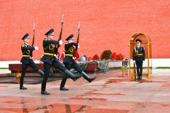 Change of the guard at the Eternal Flame post stock image