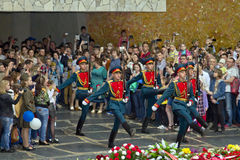 Change of guard of honor in the hall of military glory of the de Stock Photo